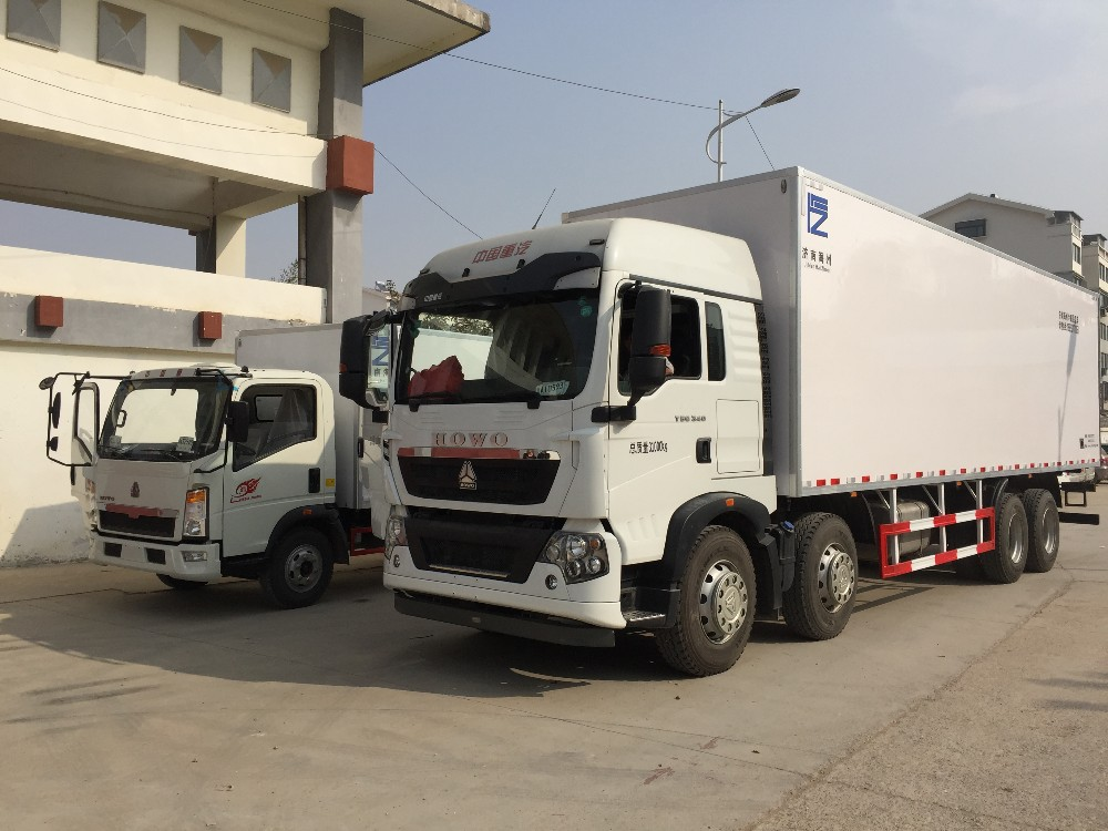 China Refrigerated Truck With Carrier Transicold Freezer