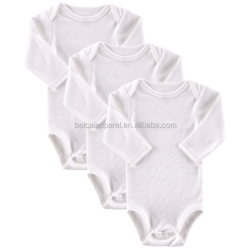 Factory supply wit plain katoenen baby rompertjes baby boy katoenen romper