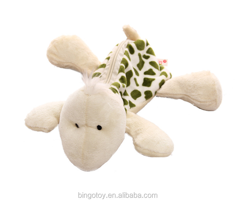 fuzzy delicated novelty plush stuffed turtle pen bag