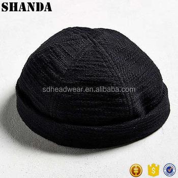 c53218b92d1 leather strap custom visorless brimless baseball cap no brim hat ...