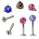 ASTM FL136 Implant Grade Titanium Piercing Prong Set Helix Labret Body Jewelry