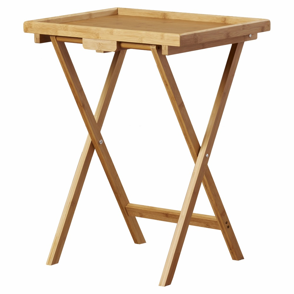 2019 new arrival folding bamboo snack tray table