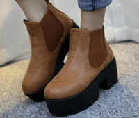 China top sell footwear cheap wholesale women shoes ankle platform boots women