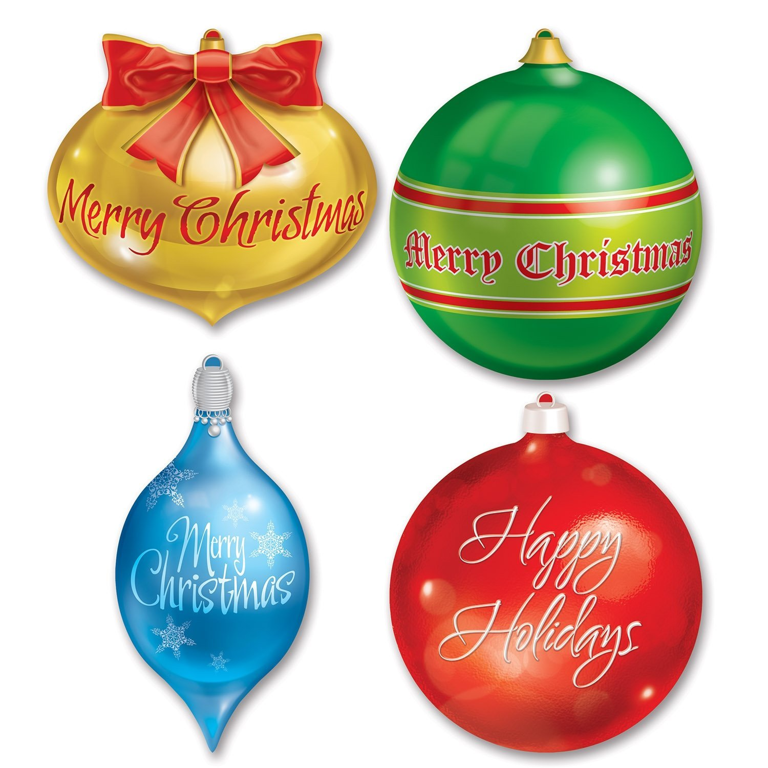 get quotations beistle 4 pack packaged christmas ornament cutouts 13 12 inch