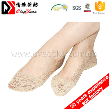 Fashion Lady Lace Transparent Sexy Nylon Foot Invisible Woman Socks low cut
