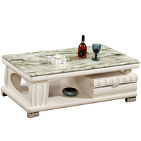 Cheap and Nice Design Tea Table Wood Marble Top Living Room Furniture Design Coffee Table