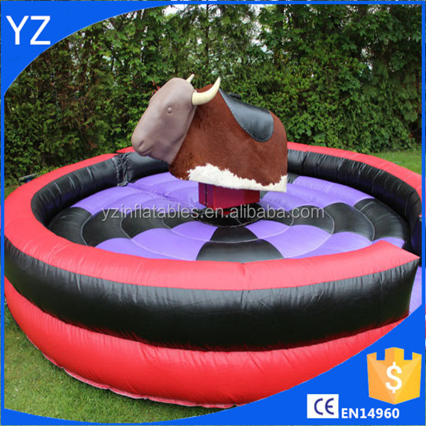 Funny inflatable mechanical bull rodeo / mechanical bull riding toys