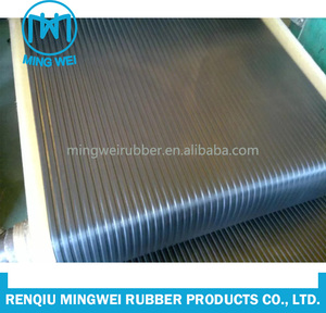 china supplier cheapest price fabric reinforced fine wide ribbed rubber sheet
