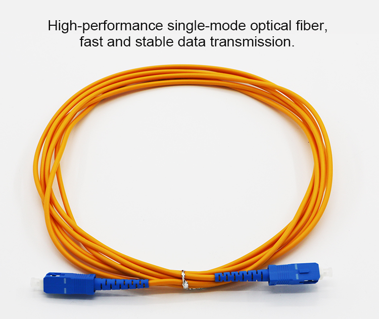 Optic equipment SC type fiber optic connector cable fiber optical patchcord for communications system