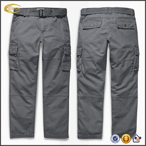 Ecoach Wholesale OEM Men Baggy Casual Trousers Military Style Washed Cotton Cargo Six Pockets Long Pants for Man