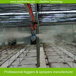 Low pressure poultry farm cooling and humidify misting system