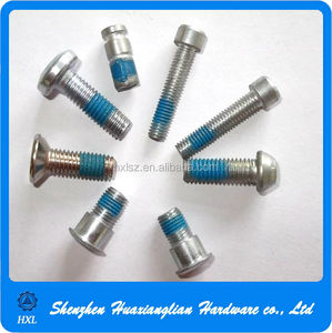 Steel philips head anti loose nylok screw with nylon patch