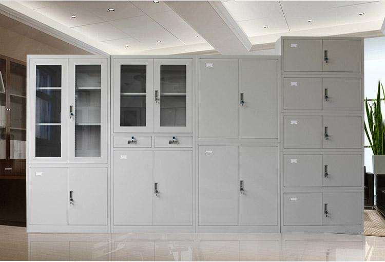 Best sales office furniture glass storage steel file cabinet with lock