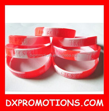 silicone wristband/mixture color bracelet/OEM cheap gift bangle