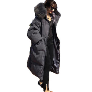 Winter Women Jacket Coats New Luxurious Coat Memory Polyester Padding Jacket Down Parka