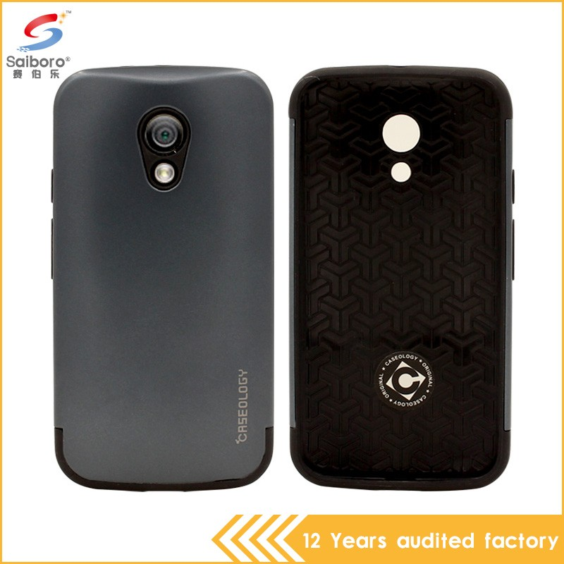 2 in 1 tpu pc hard cover case for motorola g2