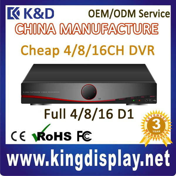 cheap 16ch full d1 security h264 stand alone network dvr for mini camera digital video recorder