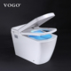 China public myanmar hospital wc human siphonic one piece in-wall foot flush toilet