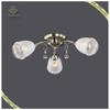 Hot Sale Glass Shades Crystal Ceiling Lamp Factory-outlet, Contemporary Ceiling Light
