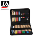 51pcs wood color pencils sets artist sketching drawing kit