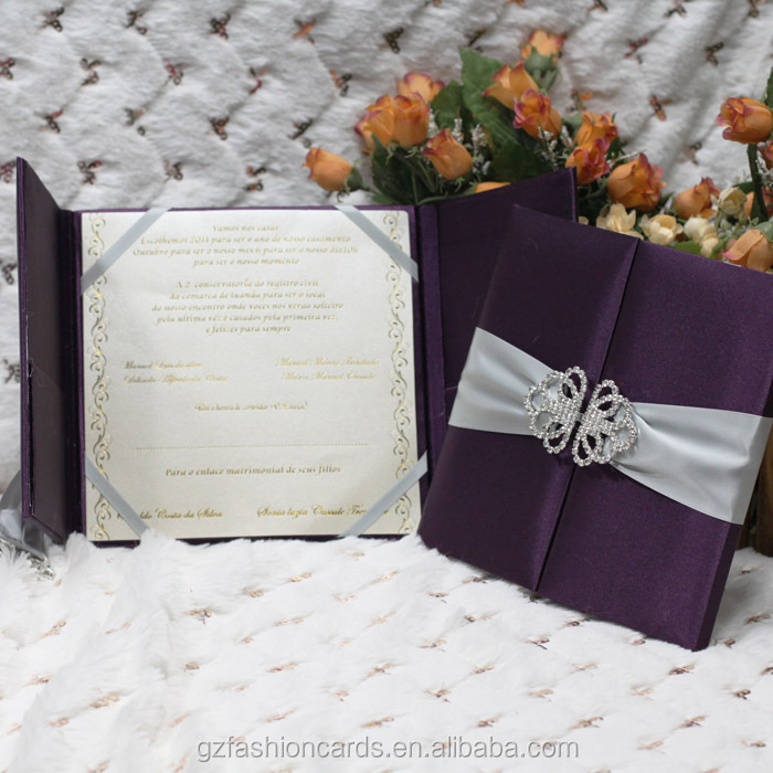 2014 Custom Luxury Silk Box Wedding Invitations Wholesale