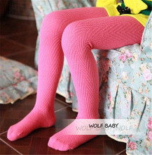 Retail 3-11years tights stockings candy V striped thickened children Kids infant Baby Combed Cotton spring autumn fall winter