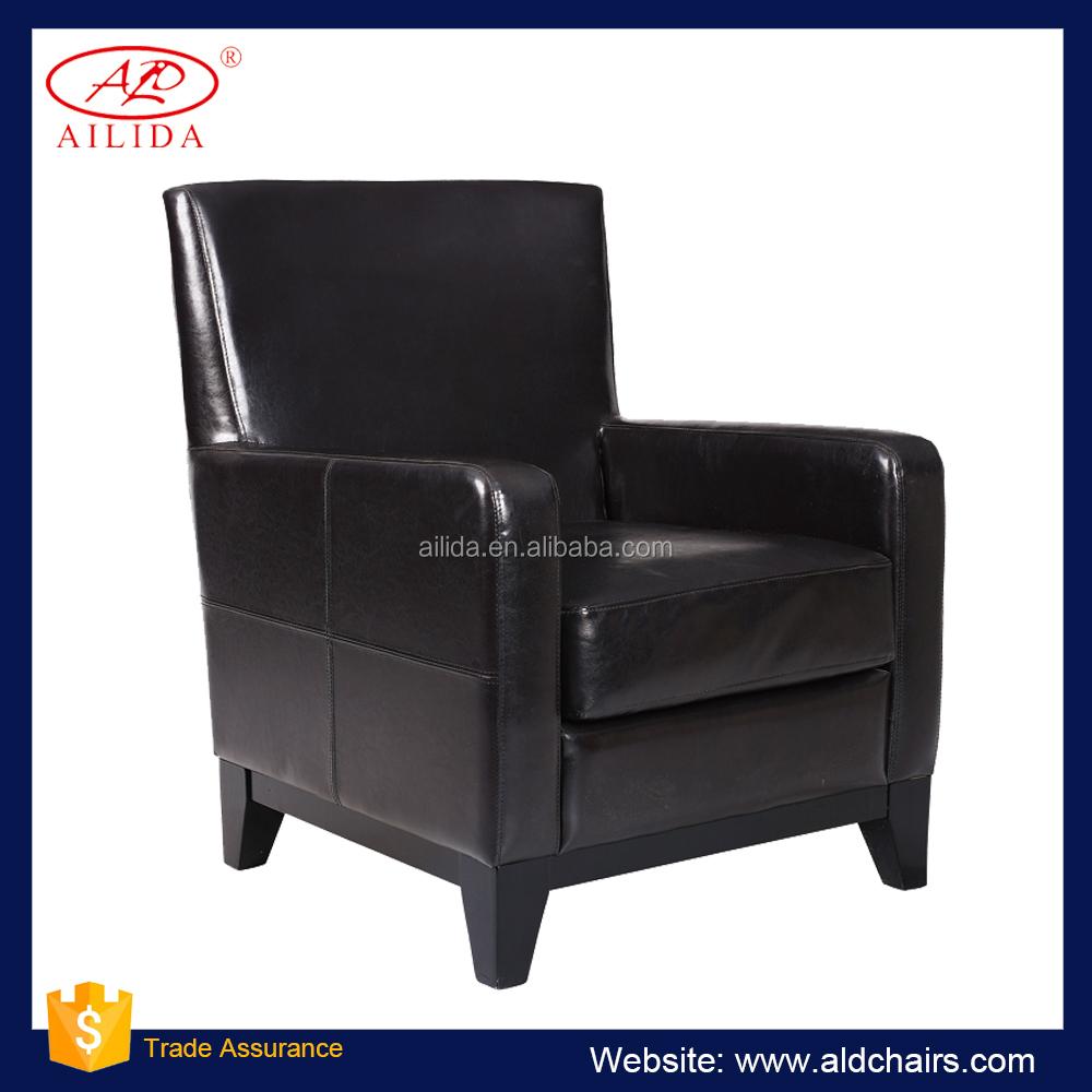 AC 148 Chef Sofa Stuhl Schwarz Leder Büro Sofa Stuhl