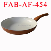 Khaki Safe and Durable Aluminum Nonstick Ceramic Fry Pan