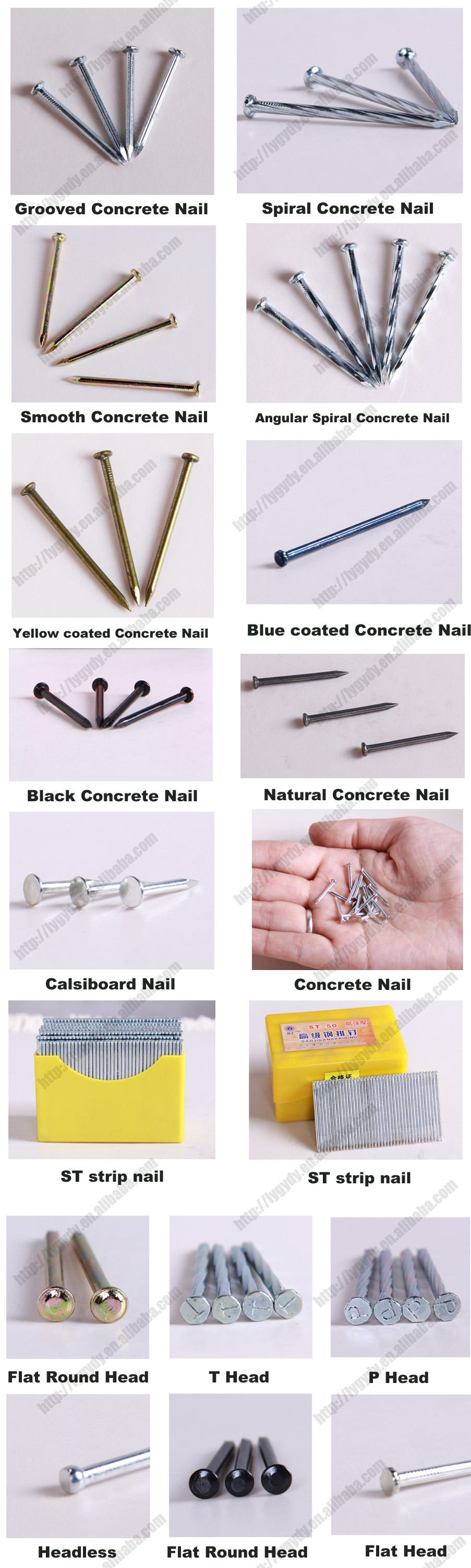 Competitive price blue grooved concrete nails manufacturer
