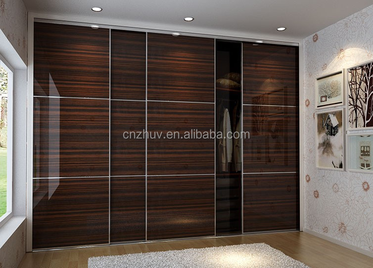 custom design bedroom wardrobe closet sliding door