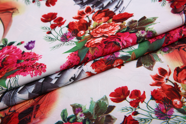 Hot sale paper print tricot polyester blend fabric cloth material wholesale