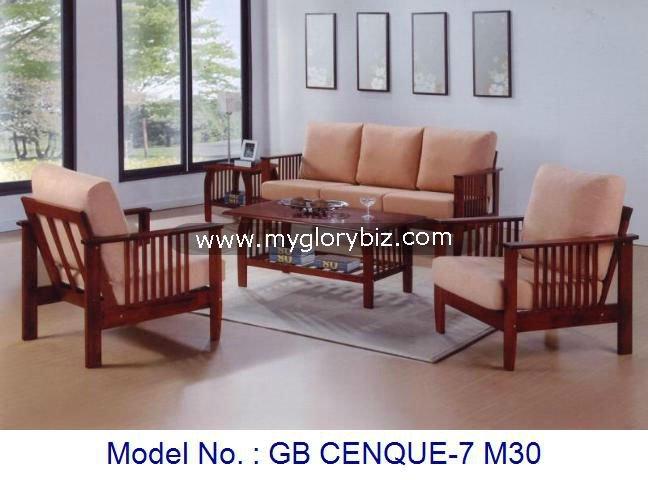 Sofa Set Wooden Furniture Arm