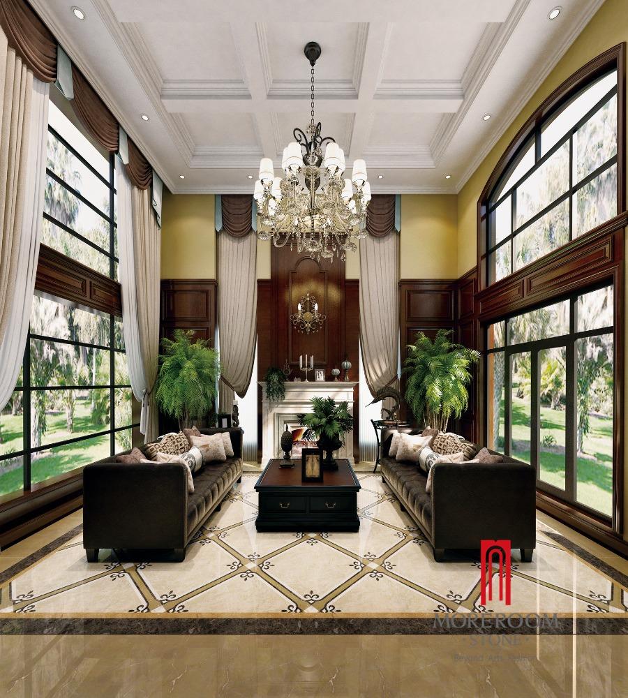 Keuken Badkamer Vloeren ~ Geglazuurd spaans beige marmeren badkamer Keramische Tegel tegels