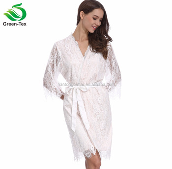 9b074253a3 High-quality Women Full Lace kimono Wedding Bridesmaid Robes Wholesale