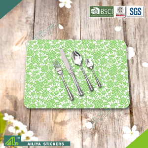Hot selling eco-friendly kitchen advertising colorful promoting printed pp rattan place mats