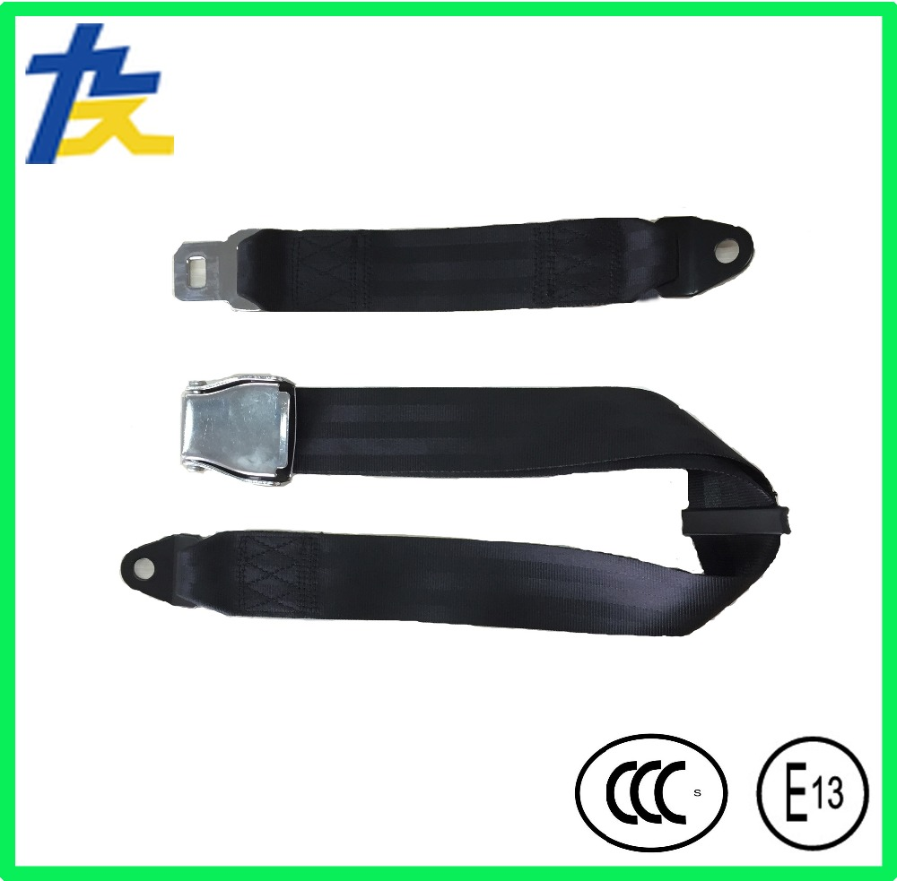 aircraft, electric car, bus or scool buses universal two points safety seat belt