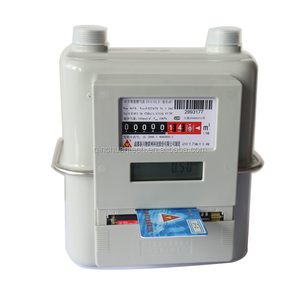 IC prepaid residential smart lpg gas meter G4 intelligent gas meter