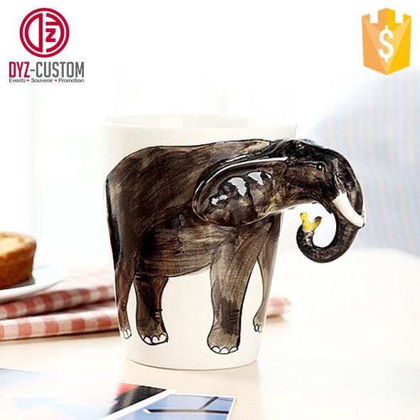 Painted Cups Animal Hand Ceramic Cups Buy Mug Mug hand deer 3d Coffee Shaped Deer oedBWxCQr