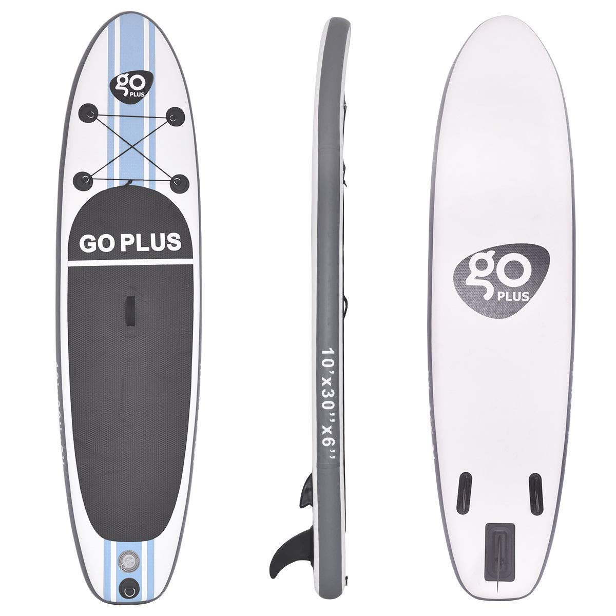 """BeUniqueToday 10' Inflatable Stand Up Paddle Board SUP w/ 3 Fins, Brand New and Inflatable Stand Up Paddle Board SUP, Stand Up Paddle Board SUP with 6"""" Ultra Durable Thickness"""