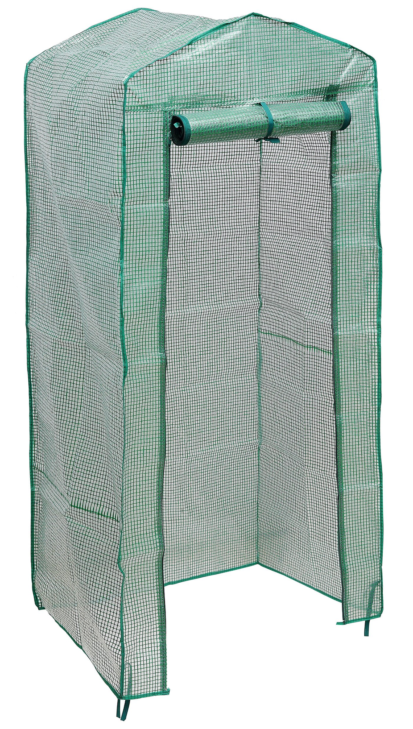 """NKTM 4-Tier Mini Greenhouse Replacement Cover,Outdoor Compact Walk-in Greenhouse 27"""" Long x 18"""" Wide x 63"""" High(FRAM NOT Include)"""