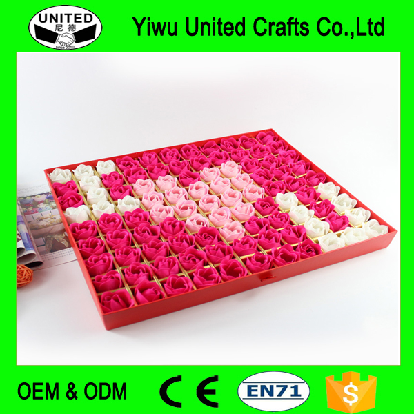 Wholesale Eco-friendly Handmade Soap Flowers Romantic Valentine's Day Gift