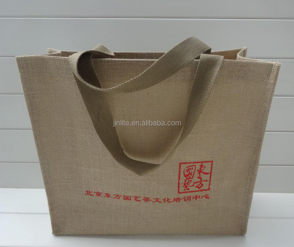 Burlap Tote Wholesale Custom Printed Shopping Jute Tote Bags ...
