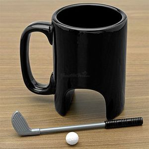 Ceramic Mugs And Cups With Golf design and Pen Ball