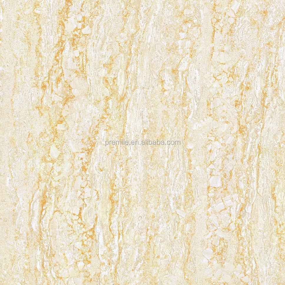 Yellow marble tile 600x600 Van Gogh series polished porcelain flooring tile