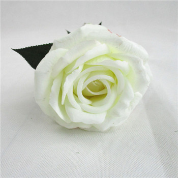 Factory wholesale Wedding Decoration Artificial silk White Rose Flower