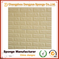 Easy-cleaning embossed Brick Stone background Textured PE wallpapers 3d home decoration