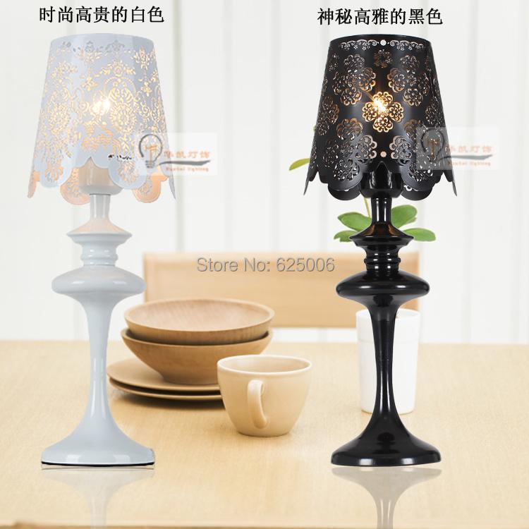 Bedroom Lamps Black: Romantic European Style Elegant Desk Lamp Led Bedroom