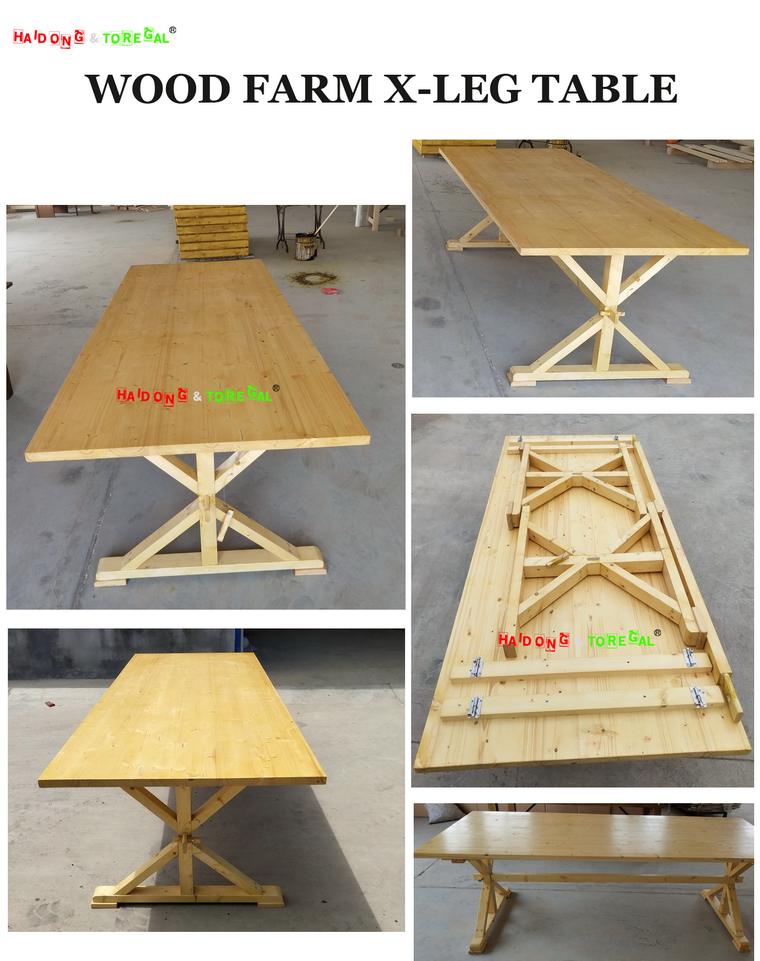Wood Farm X-Leg Table