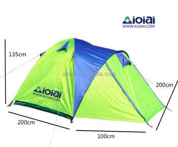 AIOIAI Outdoor 4 Person Double Layer One Room One Hall Automatic Instant Camping Traveling Family Tent