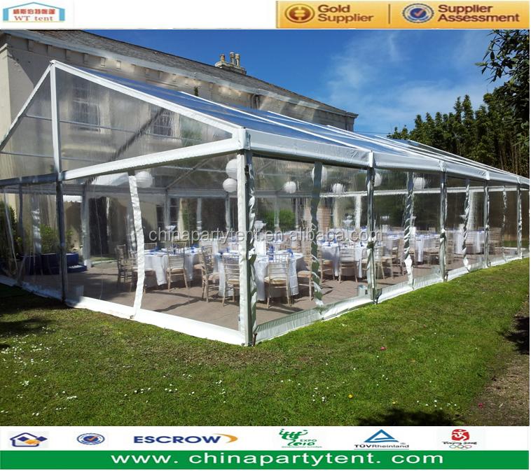 Romantische Transparent Hochzeit Festzelt Klar Zelt Mit Tischen Und ...